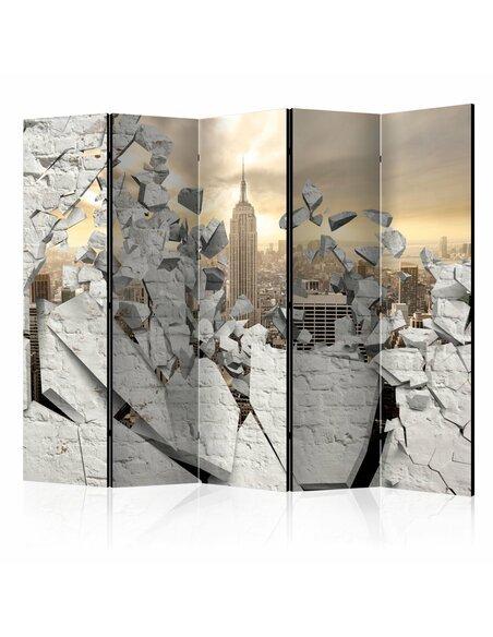 Paravent 5 volets CITY BEHIND THE WALL II - par Artgeist