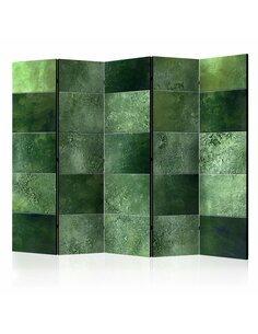 Paravent 5 volets GREEN PUZZLE II - par Artgeist