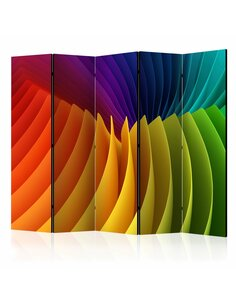 Paravent 5 volets RAINBOW WAVE II - par Artgeist