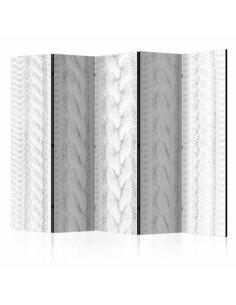 Paravent 5 volets WHITE KNIT II - par Artgeist