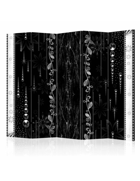 Paravent 5 volets BLACK ELEGANCE II - par Artgeist