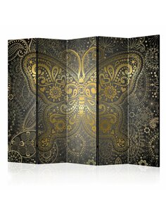 Paravent 5 volets GOLDEN BUTTERFLY II - par Artgeist