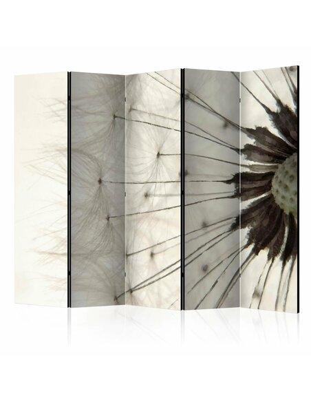 Paravent 5 volets WHITE DANDELION II - par Artgeist