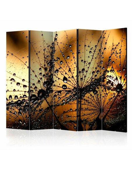 Paravent 5 volets DANDELIONS IN THE RAIN II - par Artgeist