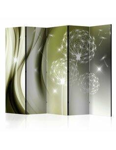 Paravent 5 volets GREEN GENTLENESS II - par Artgeist
