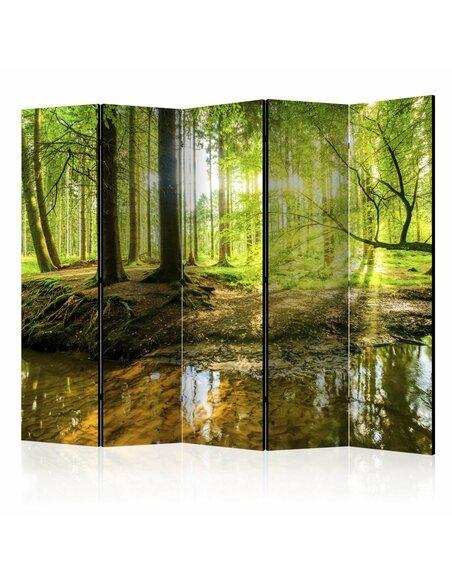 Paravent 5 volets FOREST LAKE II - par Artgeist