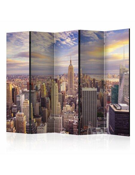 Paravent 5 volets NEW YORK MORNING II - par Artgeist