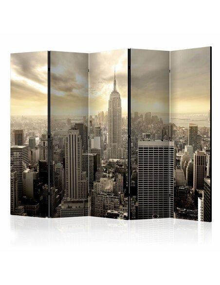 Paravent 5 volets LIGHT OF NEW YORK II - par Artgeist