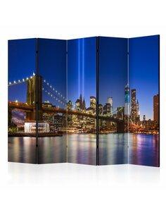 Paravent 5 volets BLUE NEW YORK II - par Artgeist