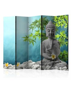 Paravent 5 volets MEDITATING BUDDHA II - par Artgeist