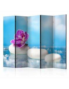 Paravent 5 volets Pink Orchid and white Zen Stones II  Paravents 5 volets Artgeist