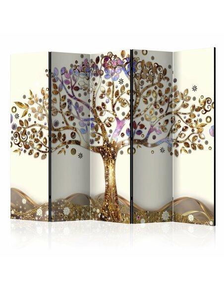 Paravent 5 volets GOLDEN TREE II - par Artgeist