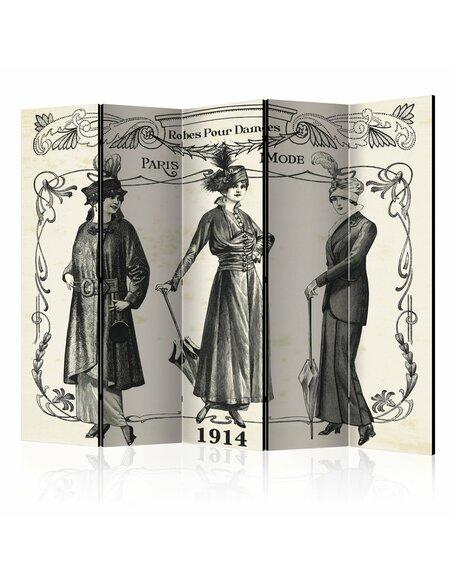 Paravent 5 volets DRESS 1914 II - par Artgeist