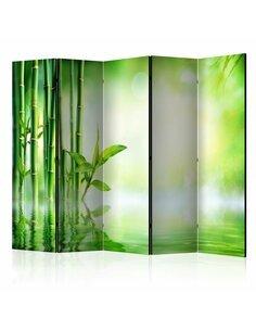 Paravent 5 volets Green Bamboo II  Paravents 5 volets Artgeist
