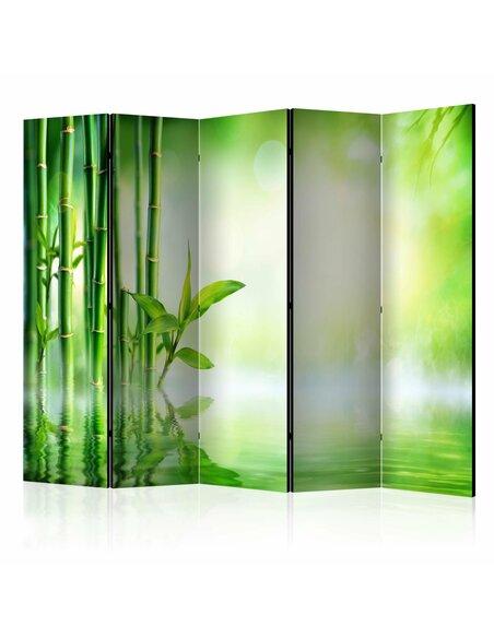 Paravent 5 volets GREEN BAMBOO II - par Artgeist