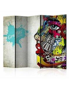 Paravent 5 volets GRAFFITI BEAUTY - par Artgeist
