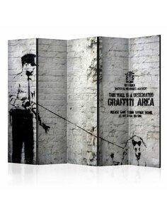 Paravent 5 volets GRAFFITI AREA - par Artgeist