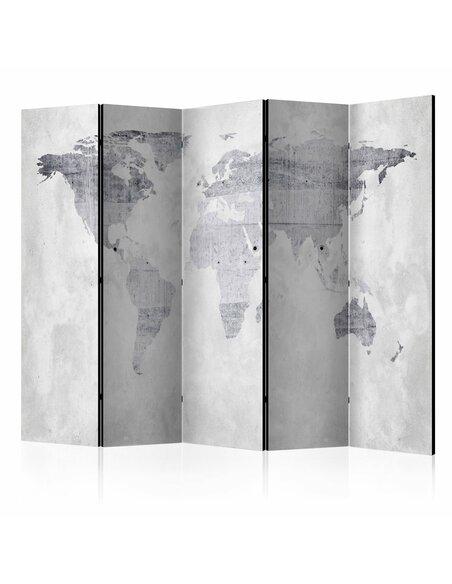 Paravent 5 volets CONCRETE MAP - par Artgeist