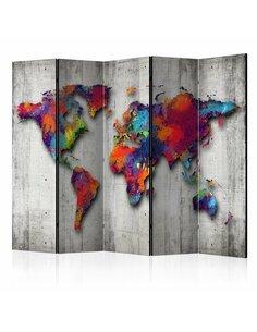 Paravent 5 volets CONCRETE WORLD - par Artgeist