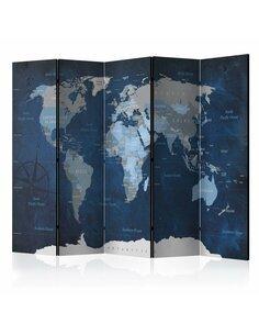 Paravent 5 volets DARK BLUE WORLD - par Artgeist
