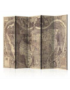 Paravent 5 volets MAP AMERIGO VESPUCCI ! - par Artgeist