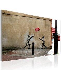 Tableau JEUX DE BALLON INTERDITS Bansky - par Artgeist