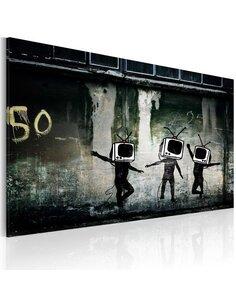 Tableau Danse De Tv Têtes (Banksy)  Art urbain Artgeist