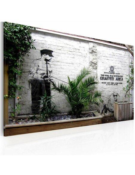 Tableau GRAFFITI ZONE Bansky - par Artgeist