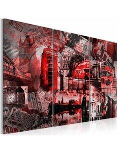 Tableau LONDRES ROUGES - Art urbain par Artgeist