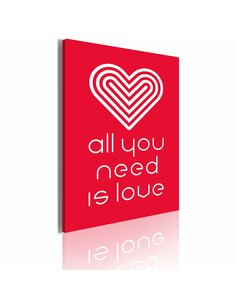 Tableau ALL YOU NEED IS LOVE - par Artgeist