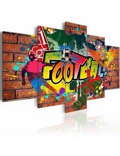 Tableau FOOTBALL Graffiti - par Artgeist