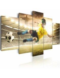 Tableau - 5 tableaux - Essence de football - par Artgeist