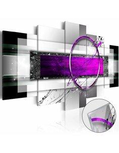 Tableau sur verre acrylique VIOLET RIM [GLASS] - par Artgeist