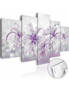 Tableau sur verre acrylique PURPLE GRACES [GLASS] - par Artgeist
