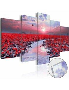 Tableau sur verre acrylique THE RIVER OF LOVE [GLASS] - par Artgeist