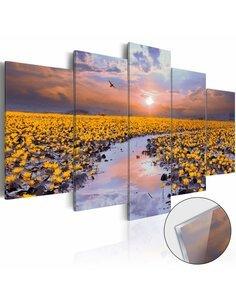 Tableau sur verre acrylique THE RIVER OF LIGHT [GLASS] - par Artgeist