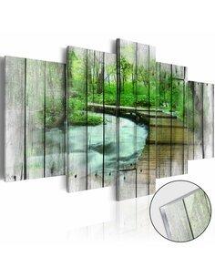 Tableau sur verre acrylique FOREST OF SECRETS [GLASS] - par Artgeist