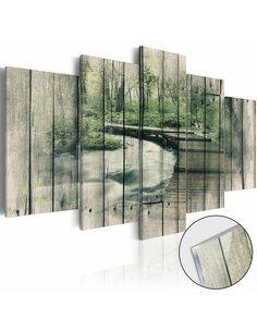 Tableau sur verre acrylique THE RIVER OF SECRETS [GLASS] - par Artgeist