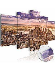 Tableau sur verre acrylique SLEEPLESSNESS IN NEW YORK [GLASS] - par Artgeist