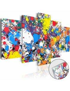 Tableau sur verre acrylique COLOURFUL IMAGINATION [GLASS] - par Artgeist