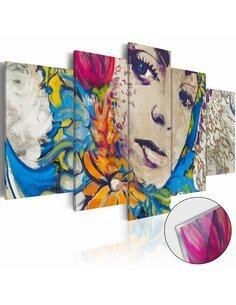 Tableau sur verre acrylique FLOWERY SORCERESS [GLASS] - par Artgeist