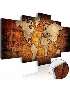 Tableau sur verre acrylique ACRYLIC PRINTS – BRONZE MAP I - par Artgeist