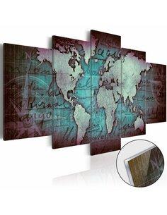 Tableau sur verre acrylique ACRYLIC PRINTS – BRONZE MAP II - par Artgeist