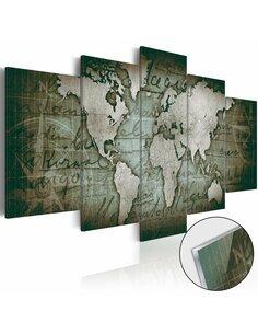 Tableau sur verre acrylique ACRYLIC PRINTS – BRONZE MAP III - par Artgeist