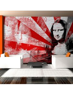 Papier peint COLLAGE MODERNE AVEC MONA LISA - par Artgeist
