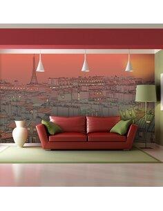 Papier peint grand format UN SOIR INSOLITE À PARIS - par Artgeist