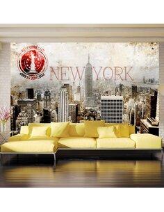 Papier peint NEW YORK POST AGE STAMP - par Artgeist