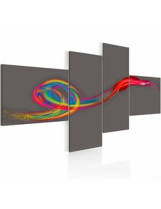 Tableau - 4 tableaux - Murmure multicolore Modernes Artgeist