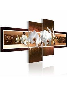Tableau - 4 tableaux - Septembre Orchidées Artgeist