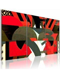Tableau Triptyque - Formes abstraites Modernes Artgeist